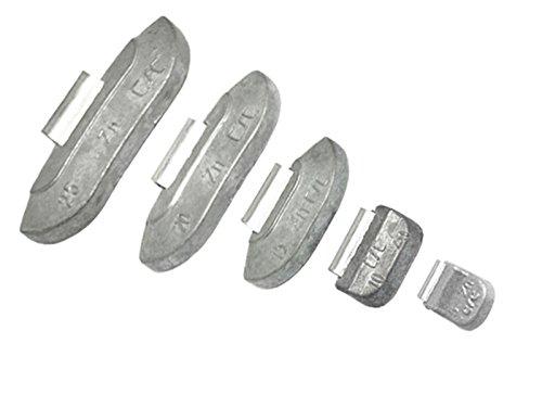 175 Stück Schlaggewichte für Stahlfelgen 5g - 10g - 15g - 10g - 25g - 30g - 35g aus Zink (ZN) / Werkstatt / erstklassig / Fest / Felgen / PKW / LKW / Geländefahzeugen / Zinkgewichte / Gewichte / ZN / Auswuchtgewichte / mit Beschichtung / Elastizität / Auswuchten / Werkstatt / Vulkanisierung / clip on / wheels weights / hochwertig / Prämium / Qualität / erstklassig / alloy rims / wheels / balancing / Neu / Felgen / PKW / LKW / Truck / Car / excellent / top quality / sortiment