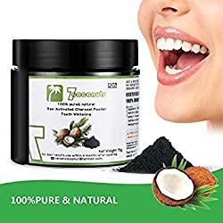 7COCONUT (2.4 OZ)Activated Charcoal Coconut Powder Teeth Whitening Natural Black Charcoal Teeth Whitener