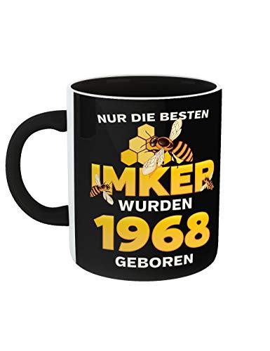 Geburtstag Kaffeetasse mit Schwarzem Griff Rundum Bedruckt Die Besten Imker Jahrgang 1968 (Filmen Halloween-serie Von Beste)