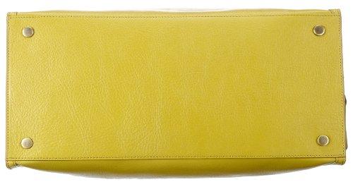 Marc OPolo Accessories Hedda 11504 52000 300, Borsa con manici donna, 18x28x37 cm (L x A xP) Giallo (Gelb (limette 52000))