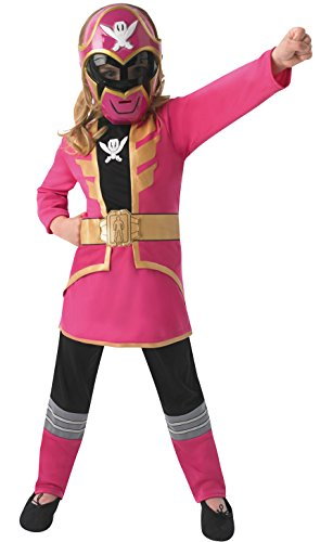 Rubie's 3610115 - Kostüm für Kinder - Power Ranger Classic Super Megaforce, S, rosa (Kinder Ranger Power Kostüm Pink)