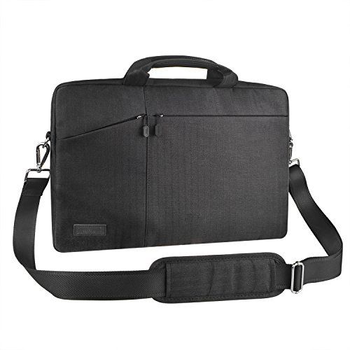 17-17,3 Zoll Laptoptasche Schultertasche Umhängetasche, EKOOS Business Laptophülle Notebook Briefcase Wasserdichte für MacBook ThinkPad Dell HP Acer Toshiba Samsung Chromebook (Schwarz, 17,3 Zoll)