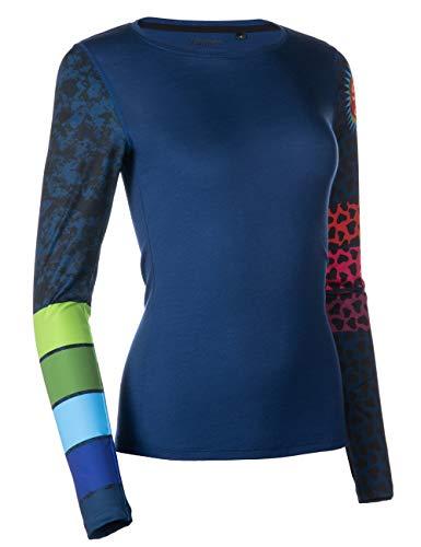 FreiSein Twisted Stripes Langarm Merino-Funktionsshirt für Damen