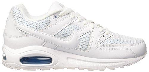 Nike  Wmns Air Max Command, Gymnastique  femme Blanc Cassé - Bianco (White/White/Blue Glow)