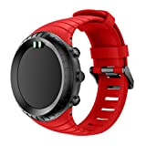 samLIKE Neue Mode Sport Silikon Armband Armband für Suunto Core (Rot)