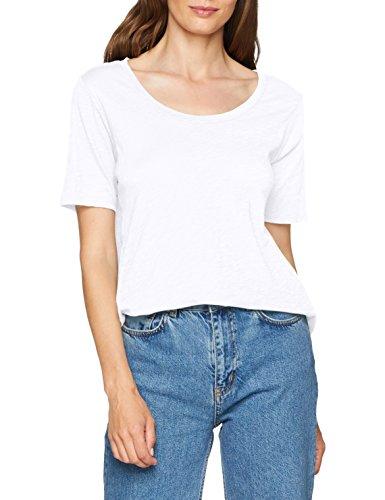 Eddie Bauer Damen Legend Wash Slub-Shirt - Longshirt - Kurzarm mit Rundhalsausschnitt, Gr. L (42/44), Weiß - Bauer Kurzarm-shirt