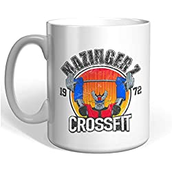 Gaamers Taza de Desayuno Divertida Mazinger Crossfit - Taza Original Ideal para Regalar