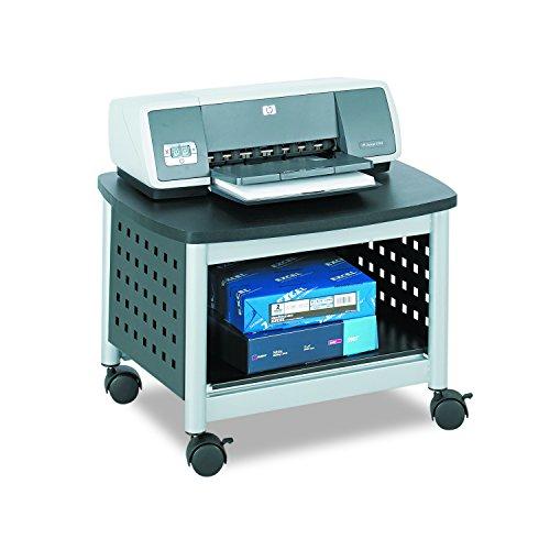 Mobile Computer-arbeitstisch (Safco Scoot Druckerständer für unter den Schreibtisch - schwarz)
