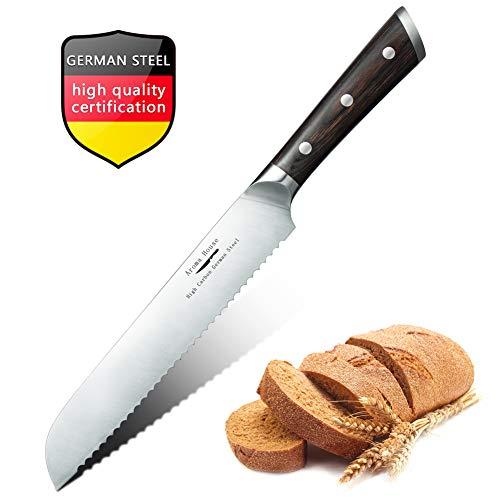 Cuchillo panero profesional de 20 cm, Cuchillo para Pan, Cuchillos de cocina Longitud Cuchillo de diente Cuchilla dentada Cuchillo de pastelería de pan con sierra de pan