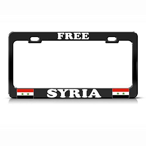 Gratisflagge Syrische Flagge aus Metall, robust, Schwarz