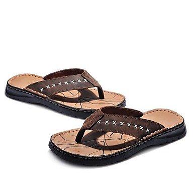 Sommer Sandalen Herrenschuhe Outdoor/Sportlich/Casual Leder Hausschuhe Braun Braun