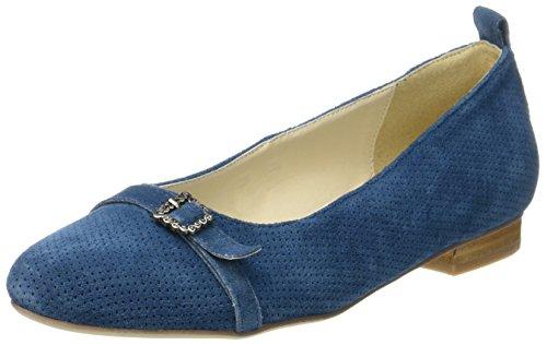 HIRSCHKOGEL Damen 3003423 Geschlossene Ballerinas, Blau (Jeans), 39 EU