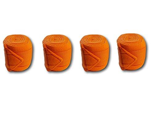 Bandagen für Pferde weiche und Rutschfeste Fleecebandagen mit Klettverschluss im 4er Set
