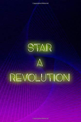 Start A Revolution: Blank Lined Notebook ( Vaporwave ) Purple Revolution Womens Sweatshirt