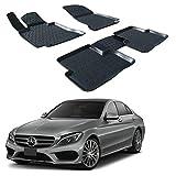 | 3D Tapis DE Sol en Caoutchouc Premium Compatible avec Mercedes C CLAS W205...
