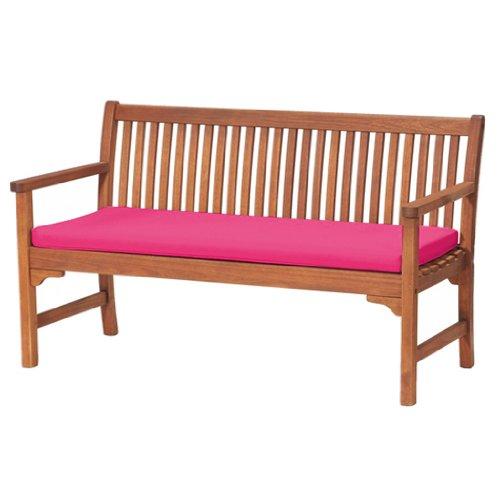 Sitzkissen für Gartenbank, bequem, leicht, Pink Ideal geeignet für die Nutzung im Haus oder Garten; hergestellt aus hochwertigem, wasserabweisenden Material.