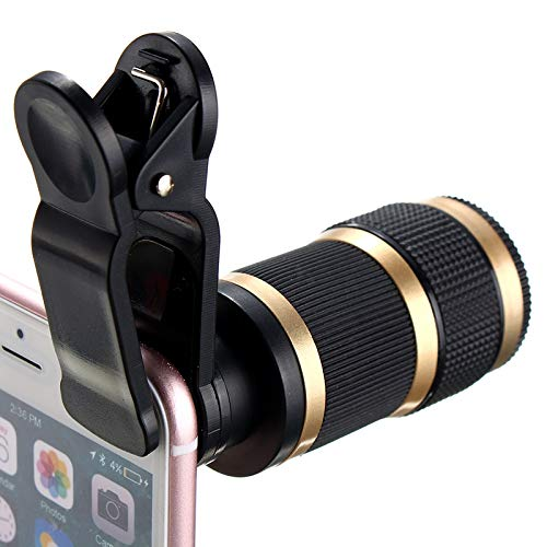 SJSXTLLL Telescope 8X Optical Zoom Lens HD with Clip Phone Camera HD Telescope Lens Universal for iPhone for Samsung Mobile Phones Lens