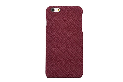 iPhone 6s / 6 Case, CAPY [Plaid pattern Series] [Polypropylene Leather] Soft Corrected Grain Leather Case , Leather Case Back Cover for iPhone 6 / iPhone 6s 4.7 inch (Red)