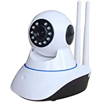Secure Vision Dual Antenna WiFi IP Smart Camera, 1080P with Wall Stand (White)