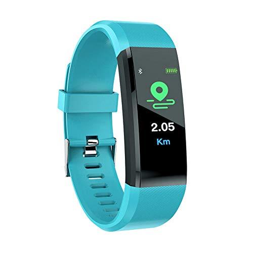 YBWZH Fitness Tracker Farbbildschirm Herzfrequenzmessgerät Smart Armband Wasserdicht mit Pulsmesser Smartwatch Aktivitätstracker Pulsuhren Schrittzaehler Uhr Smart Watch Fitness Uhr (Grün)
