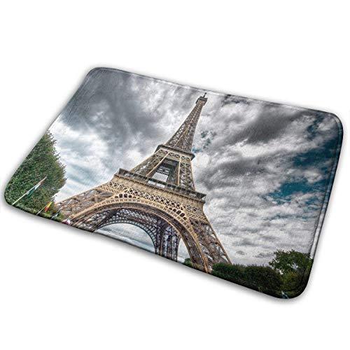 Needyo Felpudos Door Mats Rubber Paris Eiffel Entrance