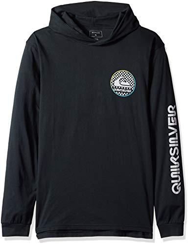 Quiksilver Herren Check This Hoodie Hemd, schwarz, Groß - Quiksilver Herren Surf-check
