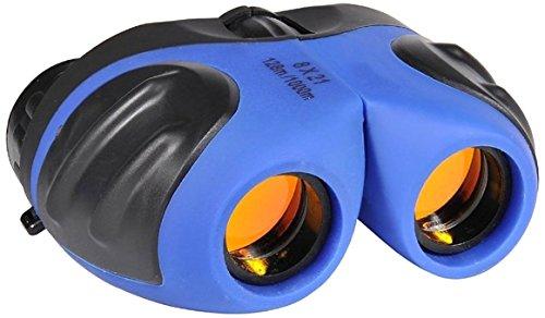 Mini Falten Fernglas für Jungen und Mädchen, DMbaby 8 x 21 Feldstecher Vogelbeobachtung Reisen Sightseeing Blau DL02