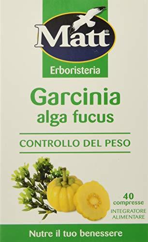 Matt Garcinia Alga Fucus per il Controllo del Peso - 2 confezioni da 40 Compresse
