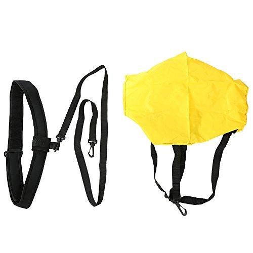 GLOGLOW Schwimmen-Widerstand-Gurt, Schwimmen-Trainingsgerät-Stärke-Trainings-Geschirr-Widerstands-Schnüre Ziehen Sie Gurt mit Luftwiderstand-Fallschirm für Erwachsene und Kinder