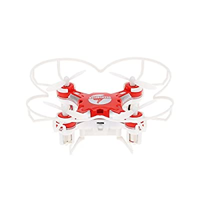 FQ777 - 124 Micro Pocket Drone 2.4G 4CH 6Axis Gyro Headless Mode RC Quadcopter Drone UFO with Switchable Controller