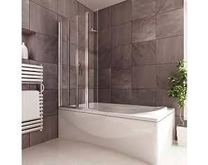 badewannenfaltwand 4 teilig anschlag links k che haushalt. Black Bedroom Furniture Sets. Home Design Ideas