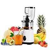 Cookhouse Compact Cold Press Slow Juicer - Masticating Whole Food Juice Extractor