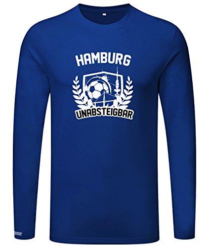 Hamburg Unabsteigbar - Herren Langarmshirt Royalblau