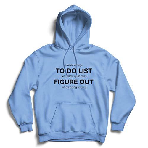 lepni.me Kapuzenpullover Hergestellt EIN to-Do-Liste Lustiges Geschenk mit Sprüchen (XX-Large Blau Mehrfarben)