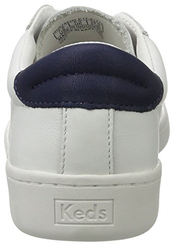 Keds Ace Core Leather, Scarpe Basse Donna Weiß (White/Navy)