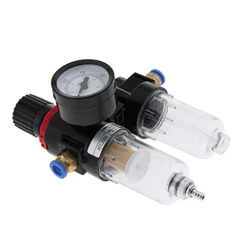 F Fityle Belüfter für Abscheider-Wasserölregler Luftfilter-Messadapter für Einlassrohrlegierung - 8mm Einlass