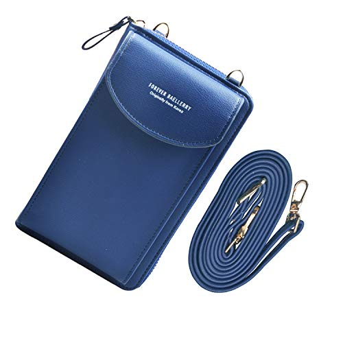 Jangostor Small Crossbody Bag Cell Phone Purse Wallet with Credit Card Slots for Women ... (blue)