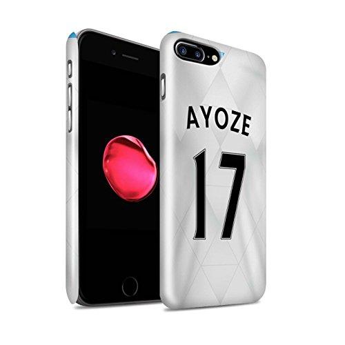 Offiziell Newcastle United FC Hülle / Glanz Snap-On Case für Apple iPhone 7 Plus / Townsend Muster / NUFC Trikot Away 15/16 Kollektion Ayoze
