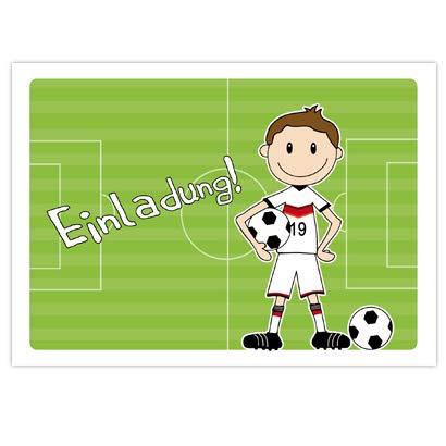 """10 Einladungen zum Kindergeburtstag \""""FUSSBALLER\"""" für Jungs zur Fussball-Party Einladung für Jungs mit Motto Fussball - Einladungskarten zum Kindergeburtstag"""