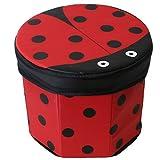 TE-Trend Textil Aufbewahrungsbox Spieltruhe Spielbox Motiv Marienkäfer faltbar mit Deckel