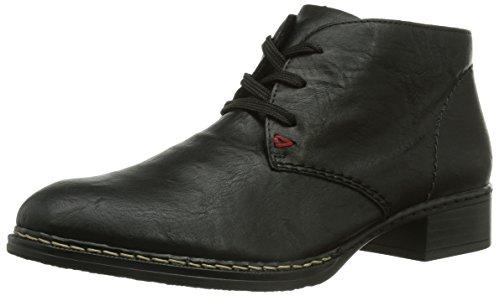 Rieker 53432-00 Damen Kurzschaft Stiefel Schwarz (schwarz / 00)