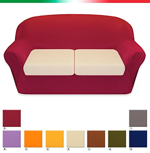 Copricuscino universale tessuto elasticizzato 3 misure 1/2/3 piazze alta qualita' 100% made in italy 1 piazza bordo' (a)