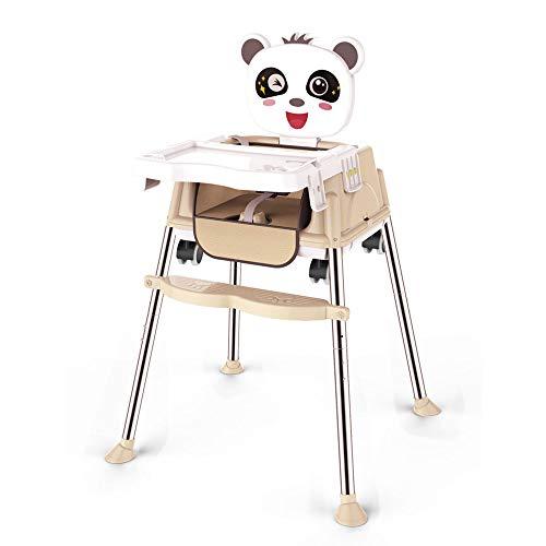 Tragbarer Klappbarer Baby-Esstisch Und Stuhl - HöHenverstellbar, Mit Sicherheitsgurt, FußPedal, Ablage -