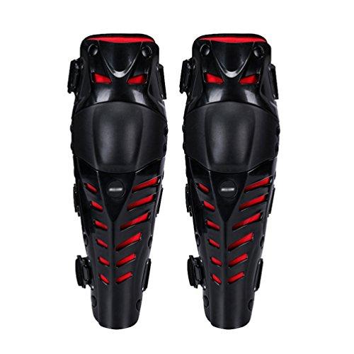 Dexinx Motorrad Radfahren Knieschützer Motocross Racing Beinschutz Pads Schutzausrüstung für Motorrad Mountainbike-2 stücke Schwarz Rot
