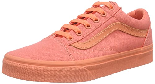 Vans Old Skool, Unisex Sneakers, Orange (Mono/Fusion Coral), 36 EU (4.5 US) (Fusion 4.5)