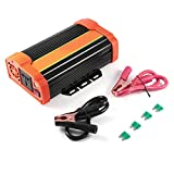 P1000C 1000W Inversor de corriente para automóvil de alta potencia DC22V a AC110V Solar Inverter (negro)