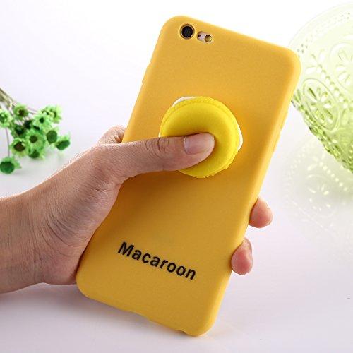 Phone Case & Hülle Für iPhone 6 Plus und 6s Plus Macaroon Muster Squeeze Rebound Squishy Drop-Schutz-Schutzhülle ( Color : Yellow ) Yellow