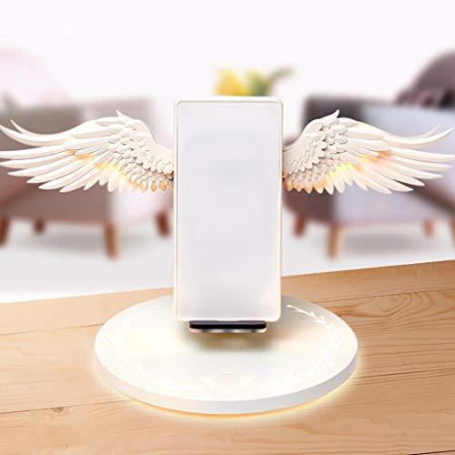 bloatboy Creative Angel Wings Wireless Ladestation Dock, QI 10W Fast Charging Wireless Nützlicher Ständer für iPhone XR/Xs Max für Samsung Galaxy usw -