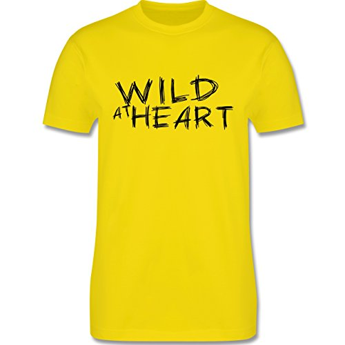 Festival - Wild at heart - Herren Premium T-Shirt Lemon Gelb
