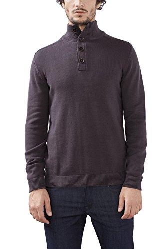 ESPRIT Herren Pullover 116EE2I034 Grau (Dark Grey 020), Small (Pullover Baumwolle Strukturierte)